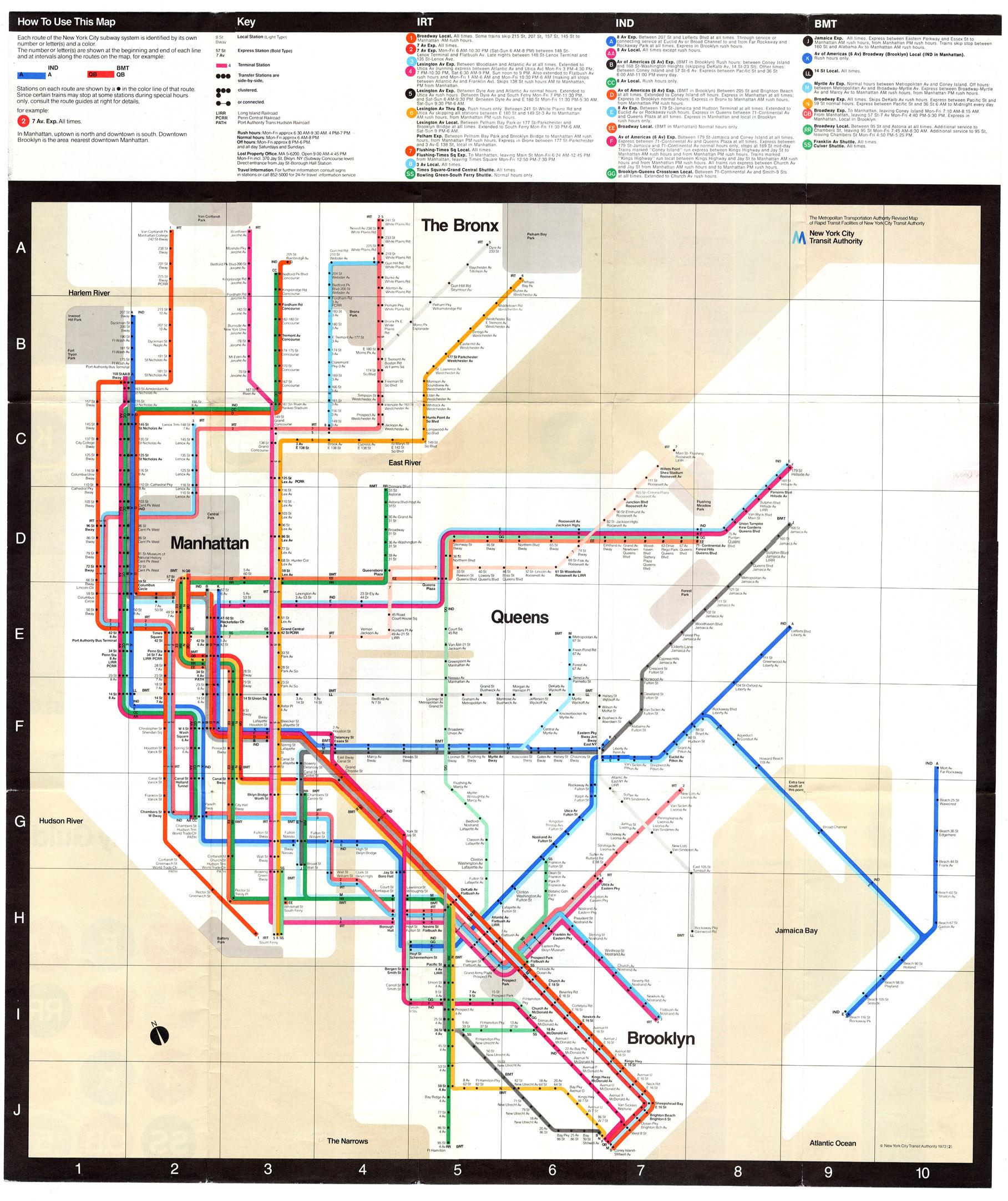 Massimo Vignelli Subway Map Poster